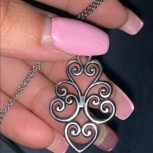Jubilant heart pendant on fine cable chain
